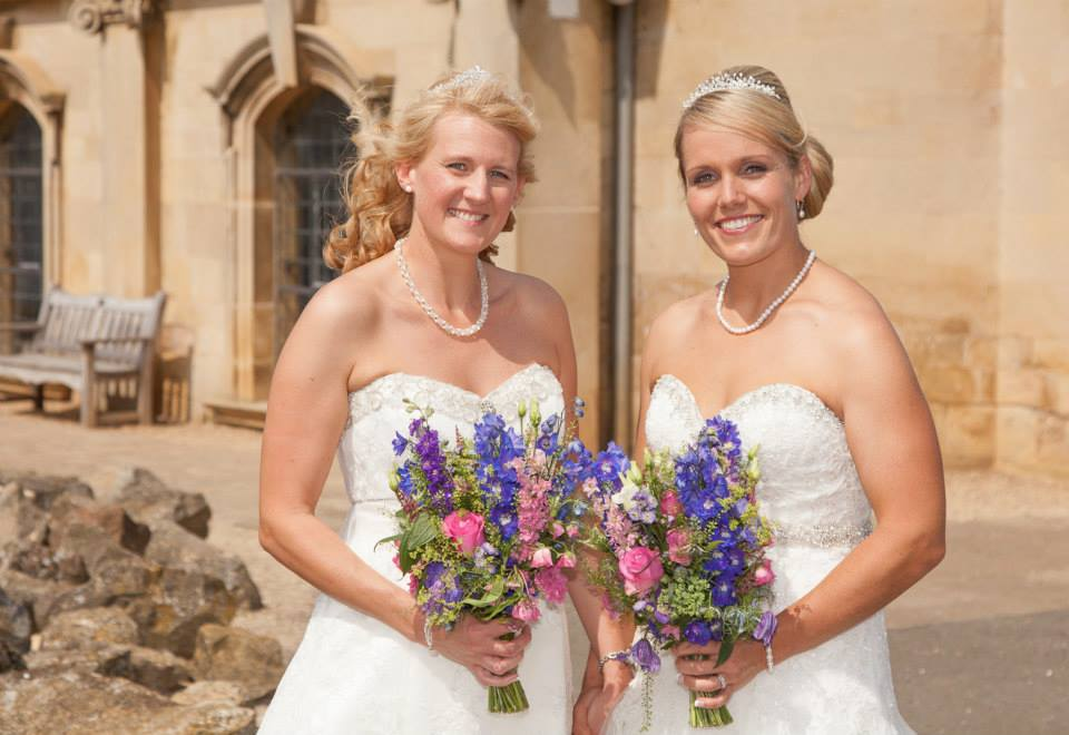 Gemma and Fiona, Normanton Church and Greetham Valley